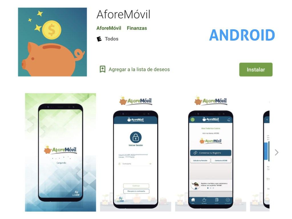 Ahorra para tu retiro con la app AforeMóvil