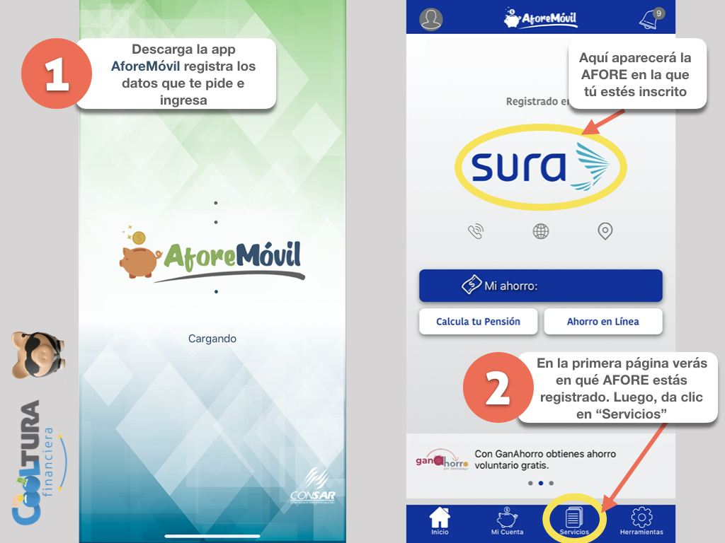 El primer paso es descargar y/o entrar a la app AforeMóvil